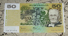 1985 Johnston Fraser OCRB 50 Dollar Note Uncirculated Scarce