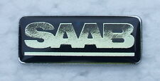 SAAB ENAMEL LAPEL PIN BADGE. 34x12mm. BUTTERFLY PIN FIXING