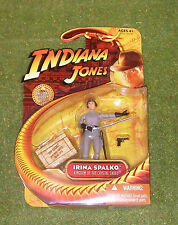 "INDIANA JONES CARDED 3.75"" KINGDOM OF THE CRYSTAL SKULL IRINA SPALKO"