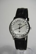 Russian mechanical watch RAKETA QUALITY MARK 24H Silver dial. 34 mm
