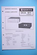 Service Manual for Sanyo DCA-611, ORIGINAL