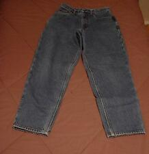 Womens Size 8 P Eddie Bauer Flannel Lined Blue Jeans