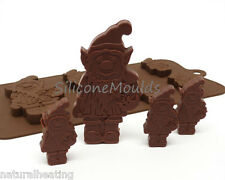 6+1 GNOME LEPRECHAUN IRISH Chocolate Silicone Bakeware Mould Candy Cake Mold Tin