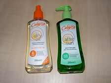 CALYPSO FACTOR 6 DRY OIL TAN SPRAY & ALOE VERA AFTER SUN GEL / LOTION / CREAM
