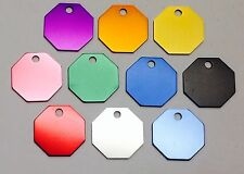100 Octagon Pet identification tags Anodized Aluminum Blank Bulk ID Wholesale