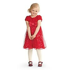 American Girl CL BITTY BABY TWINKLE PARTY DRESS SIZE 3  for Girls Small NEW Red