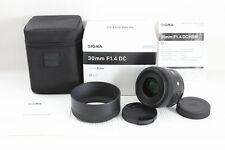 Sigma 30mm F1.4 DC HSM Art Lens  for Sony / Minolta  A mount    Mint !!