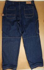 NWOT Mens Guess Brand WORKWEAR Carpenter Blue Jeans D67-62W Size 40x34 Dark Wash