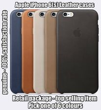 GENUINE Apple iPhone 6 & 6S Leather Cover Case 6 COLOURS FREE SHIPPING
