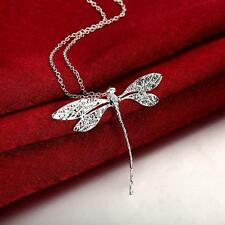 Wholesale Lady's Attractive Silver Dragonfly Pendant Women Jewellry Accessories