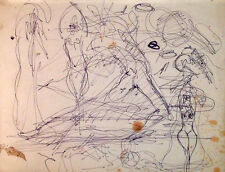 Julian Ritter - Sketches for Future Painting Pencil on Paper - 93