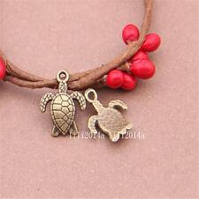 20pc Antique Bronze Sea turtles Pendant Charms Accessories Bead wholesale PL407