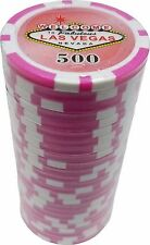 Poker Chips (25) 500 Las Vegas Sign 11.5 gram Clay Composite FREE SHIPPING *