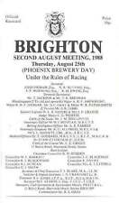 BRIGHTON RACES 2 HORSE RACING RACECARDS 25 Aug 1988 & 17 Aug 1989 - Annie Bee