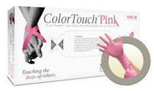 Microflex ColorTouch Powder-Free Pink Latex Exam Gloves (100/bx)- Small