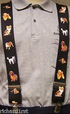 "Suspenders 2""x48"" FULLY Elastic Animal Dogs small NEW"
