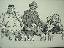 Antiguo 1905 impresión Charles Dana Gibson-desplegaron-Agotado señores