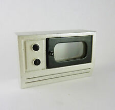 CLOSEOUT! Dollhouse Miniature Stainless Steel Look Microwave, T5453