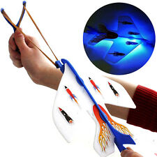 Elastic Up Amazing Led Light Arrow Rocket Helicopter Flying Toy Party Gift