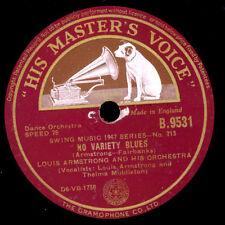 LOUIS ARMSTRONG & HIS ORCHESTRA No variety Blues/Whatta ya gonna do 78rpm  X1880