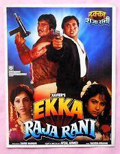 Ekka Raja Rani 1994 Bollywood Movie Press Book Govinda Vinod Khanna Ayesha (B74)