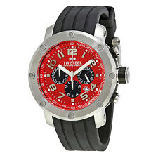 TW Steel Grandeur Tech 45mm Red Dial Chronograph Mens Watch TW124