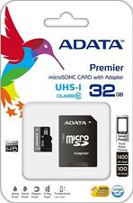 Adata Class 10 32GB MicroSD Card with SD Adapter for Samsung Smartphone, Go Pro