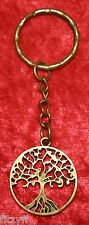 Tree of LIfe Keyring Antique Gold-tone Colour Key Ring Gift Souvenir