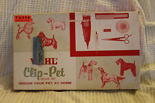 Vintage Wahl Clip-Pet Deluxe Set Home Grooming Kit