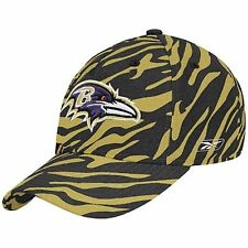 Reebok Baltimore Ravens  Zebra Flex Hat Multi-Color One Size Unisex Adult