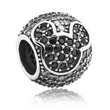 authentic S925 sterling silver Mickey Clear CZ European Charm bead fit bracelet