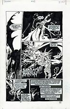 JOHN MCCREA  Original Art Page DEMON