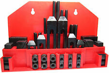 RDGTOOLS 52PC 10MM T-SLOT CLAMPING KIT WITH 8MM STUD CLAMPS STEP BLOCKS T NUTS