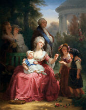 Muller Charles Louis XVI And Marie Antoinette In The Gardens     #4749