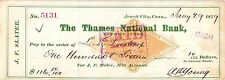 THAMES NAT BANK,NORWICH CN,JEWETT CITY CN,1881,RN-G REVENUE STAMPED PAPER,CHECK