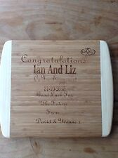 Personalised Laser Engraved Wooden Chopping Board Any Message Wedding Gift
