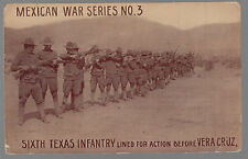 Mint Mexico War Series Revolution RPP postcard Sixth Texas Infantry Veracruz