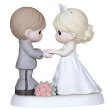 $ New PRECIOUS MOMENTS Figurine WEDDING COUPLE Statue Cake Topper BRIDE GROOM
