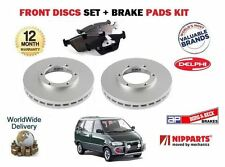 PER NISSAN LARGO SERENA VANETTE 91-1999 ANTERIORE BRAKE DISCS SET AND DISC