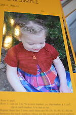 Knitting Pure & Simple Pattern 288 Little Girls Shrug 18 mos to size 10