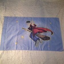 VTG 2 Sided Pillowcase Harry Potter Movie Standard Bed Linen Quidditch USA Made