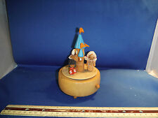 "Vintage Disney Castle With World Dancers ""Send In The Clowns"" Music Box"