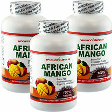 3 x 100% Natural African Mango 1200 Extract Weight Loss Diet 180 Caps = 540 Caps