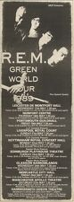 11/3/89Pgn49 Advert: See R.e.m Live 'green World Tour 1989' May Dates 9x3