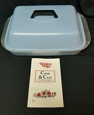 Kitchen Fair Non Stick Cast Iron Baby Blue Pot with Lid