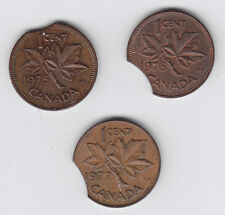 Lot of Three One Cent Clip Planchets