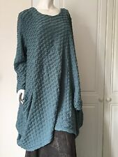 Tunic by MB of Germany in  Waffle Effect - Plus Size-Lagenlook in Sea Green