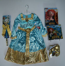 NWT Disney Brave XXS 2/2T-3/3T Merida Formal Costume Wig Wand Shoes & Tiara