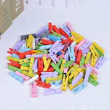50pcs Mini Wood Clothespins Laundry Photo Paper Peg Clip Clothes Pins Craft w3
