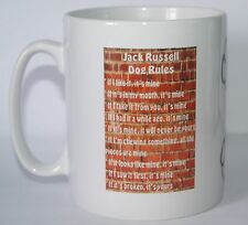 JACK RUSSELL RULES Novelty Dog Printed Tea/Coffee Drink Mug Gift/Present